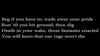 Our Rage Won't Die by Meshuggah (Lyrics)