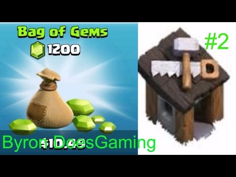 Clash of Clans-Free builder and 1200 gems pack unlocked #2