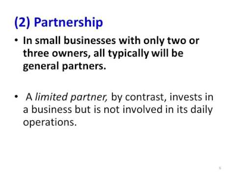 FORMS OF BUSINESSES OWNERSHIP Presentative