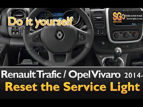 Renault Trafic / Opel Vivaro 2014- Service Light Reset guide