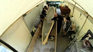 SAN JOSE STATE UNIVERSITY CONCRETE CANOE 2014. CASTING DAY  (Time lapse)
