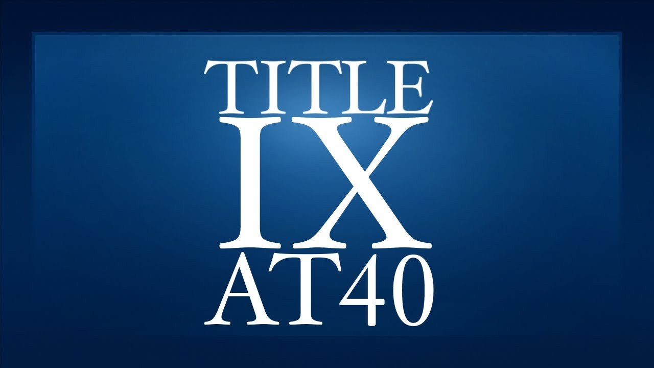 title ix at 40 Title ix at 40: working to ensure gender equity in education you've heard about title ix and athletics, but title ix is about much more in honor of the 40th anniversary of the law's passage, the national coalition for women and girls in education published a comprehensive report to help give educators, parents, students, and lawmakers a.