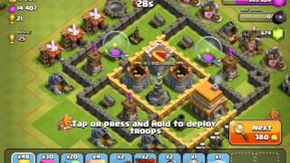Clash of clans: barb king attack and ect.