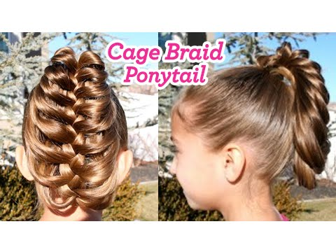 cage braid ponytail popular braids cute girls hairstyles youtube