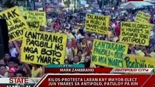 SONA: Kilos-protesta laban kay Mayor-elect Jun Ynares sa Antipolo, patuloy pa rin