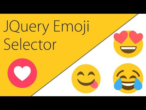 How To Add An Emoji Selector To Your Site | JQuery + HTML