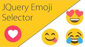 Emoji Input with jQuery - YouTube