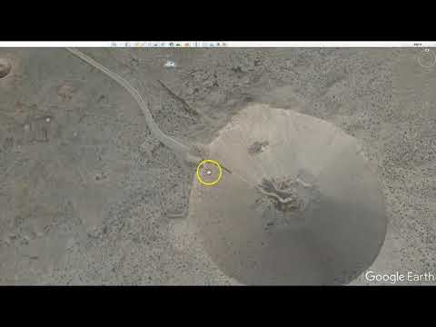 Nevada Nuclear Test Site location from Google Earth