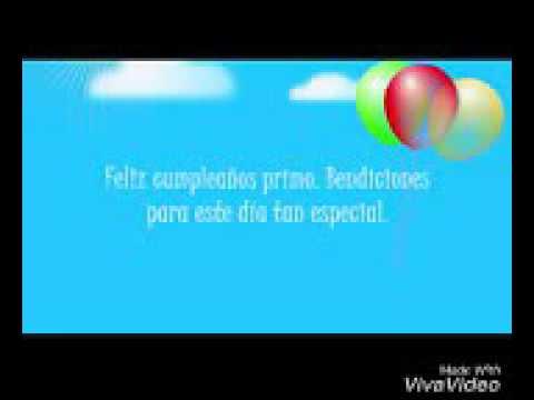 Feliz Cumpleaños Primo Christian Youtube