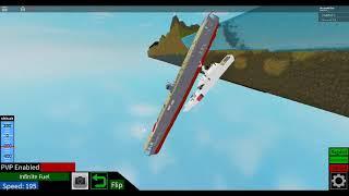 Roblox Plane Crazy Akagi falling off the map