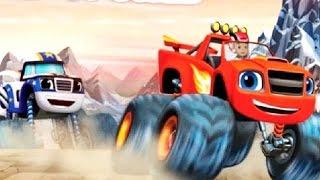 ВСПЫШ мультик. Вспыш и чудо машинки ГОНКА на вершину мира! Blaze RACE to the Top of the World