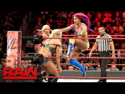 Thumbnail: Bayley, Sasha Banks & Dana Brooke vs. Charlotte Flair, Nia Jax & Emma: Raw, April 3, 2017