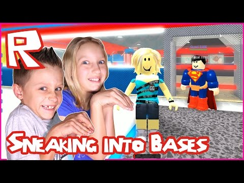 Sneaking Into Other Player's Bases / Roblox Super Hero Tycoon with RonaldOMG