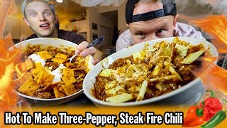 How To Make Three Pepper, Steak Fire Chili in a Slow Cooker
