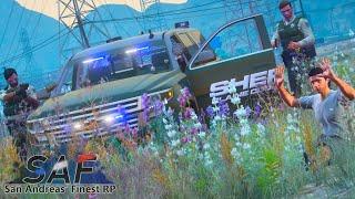 SA'F #432 - Deṗuty Hits Suspect With Car! | GTA V RP