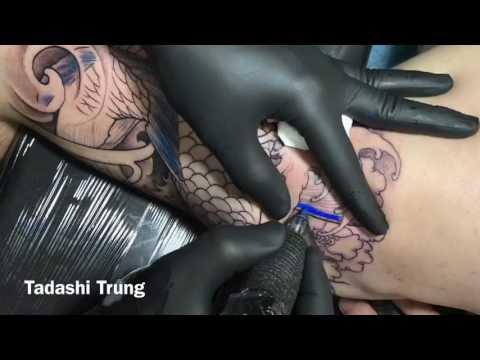 Quá Trình Xăm Hình CÁ CHÉP XANH | Blue Koi Fish Tattoo