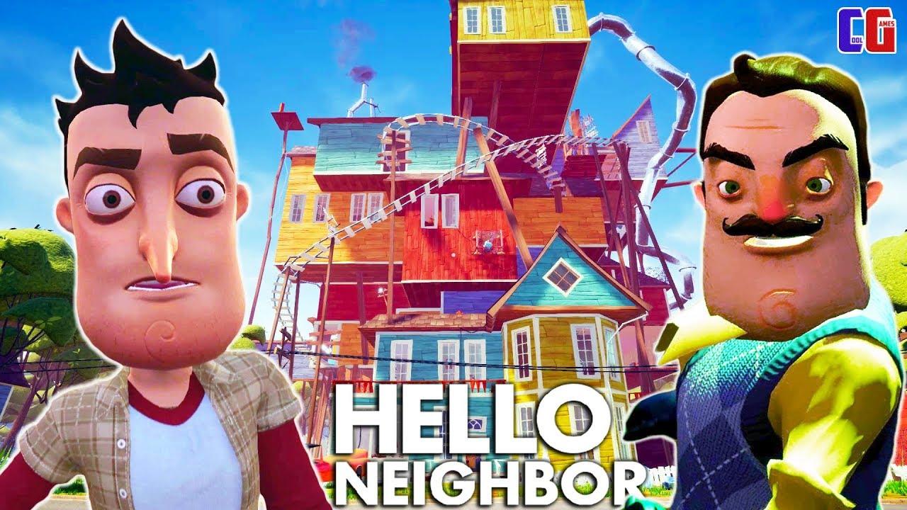 НОВЫЙ ДОМ и НОВЫЕ ТАЙНЫ ПРИВЕТ СОСЕД! Мультяшная хоррор игра Hello Neighbor АКТ 3 Начало