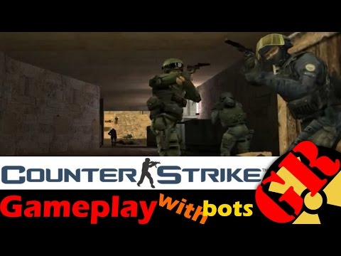 Counter-Strike v1.6 gameplay with Hard bots - Dust - Counter-Terrorist