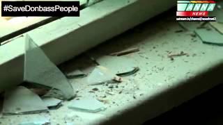 Славянск.Запрещенное видео для показа в соц.сетях.Обстрел мирного населения-Slavyansk