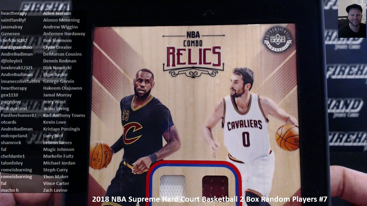 2018 NBA Supreme Hard Court Basketball 2 Box Random Players  7 ~ 3 10 18 8ccc1ba67
