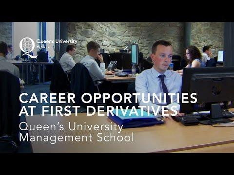 Career Opportunities at First Derivatives - Queen's Management School