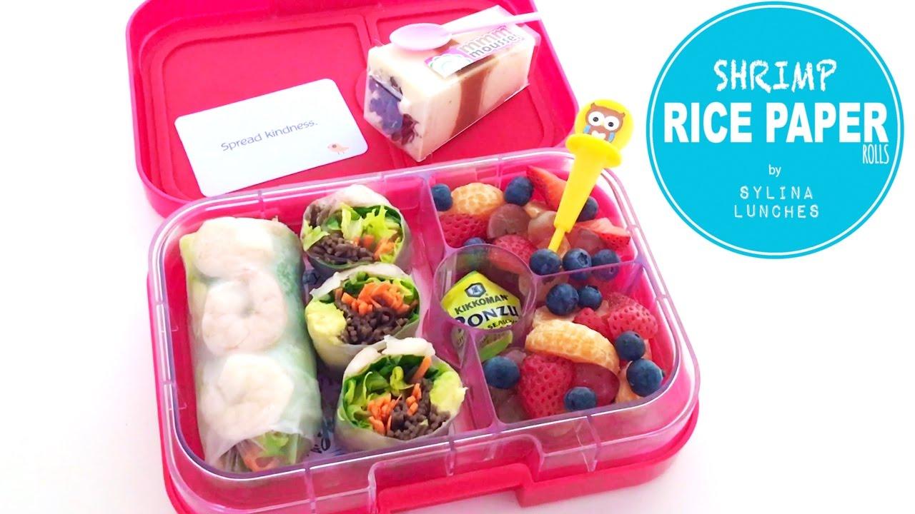School Lunch Ideas Shrimp Rice Rolls Youtube