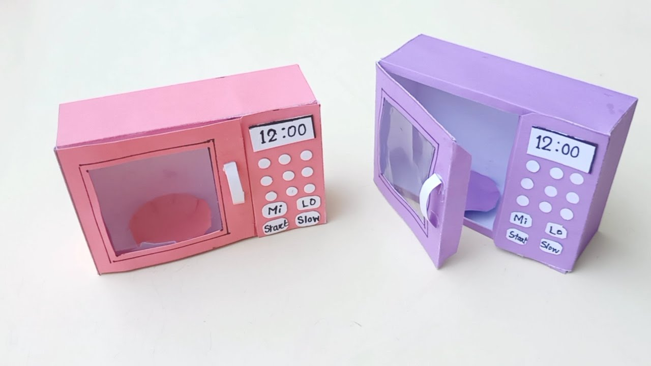 How to make paper Microwave Oven || DIY Miniature Microwave Oven | Dollhouse || Paper Craft Idea