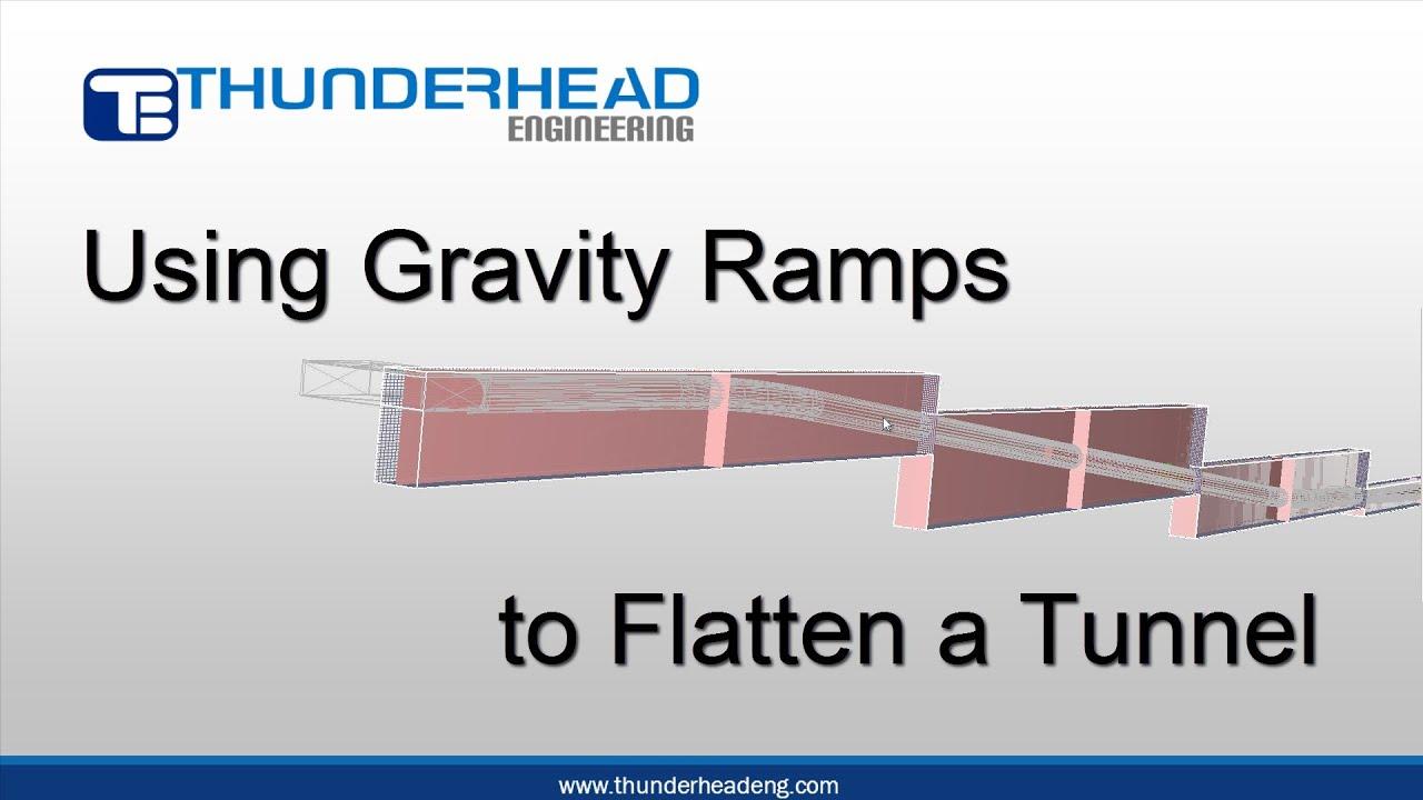 PyroSim: Using Gravity Ramps to Flatten a Tunnel