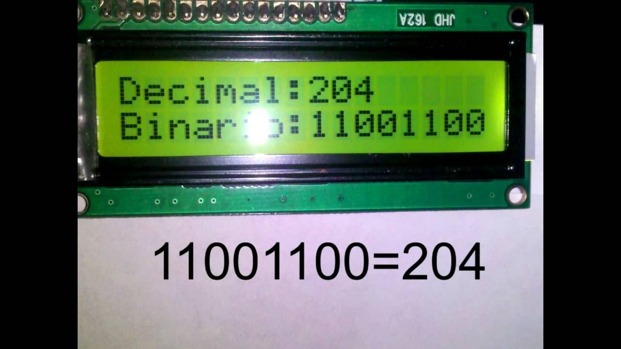 Convertir un numero decimal a binario en arduino