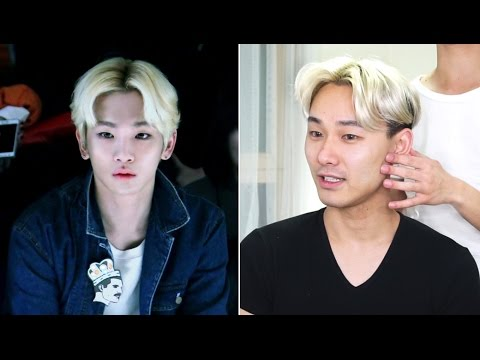 KEY (SHINEE) MIDDLE PART HAIR TUTORIAL - Edward Avila