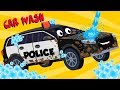 Police Car Videos For Toddlers   Vehicle Car Wash   Car Cartoons For Babies by Kids Channel