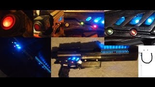soldering led lights in nerf guns cosplay
