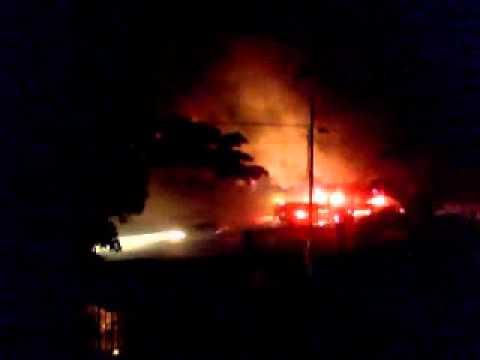Fire in Salinas Puerto Rico - Camp Santiago -