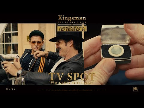 Kingsman: The Golden Circle ['Wickedly Different' TV Spot in HD (1080p)] from YouTube · Duration:  31 seconds