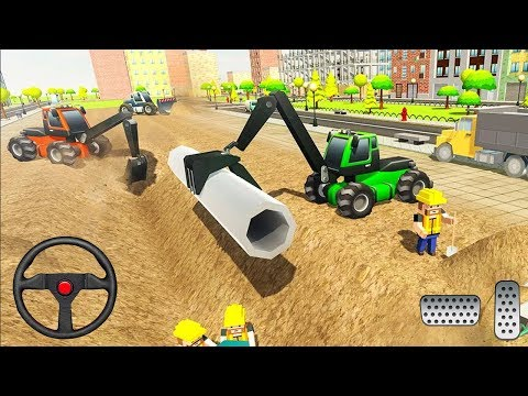 City Pipeline Construction Work: Plumber - Excavator Games 3