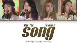 Fin.K.L (핑클) - Like the song remains (남아있는 노래처럼) [Color Code…