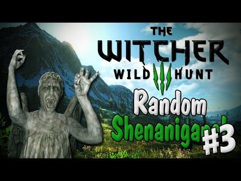 The Witcher 3! | Random Shenanigans 3 | Weeping Angels Easter Egg!