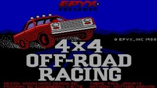 4x4 Offroad racing gameplay (PC Game, 1988)