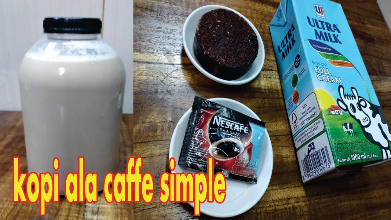 cara buat kopi ala caffe simple enak