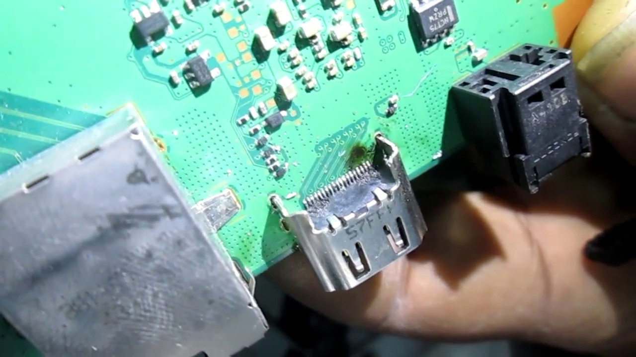 How to install hdmi port for Playstation 4 - YouTube