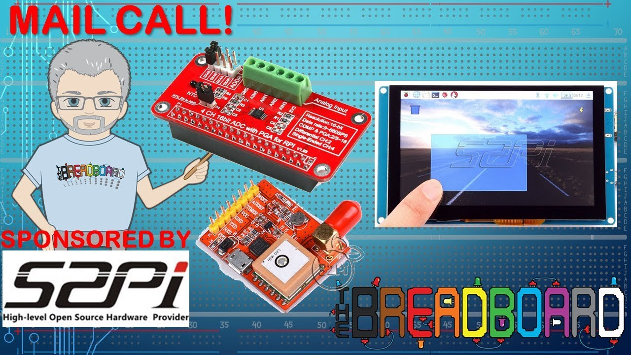 GPS, 5` Screen and an Analog converter for the Raspberry PI