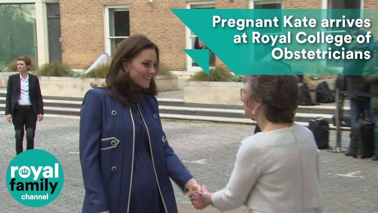 Pregnant Kate arrives at Royal College of Obstetricians