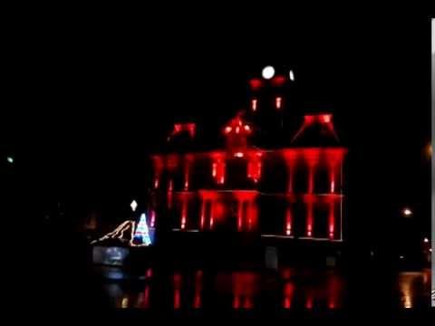 Cambridge Ohio's court house light show sample