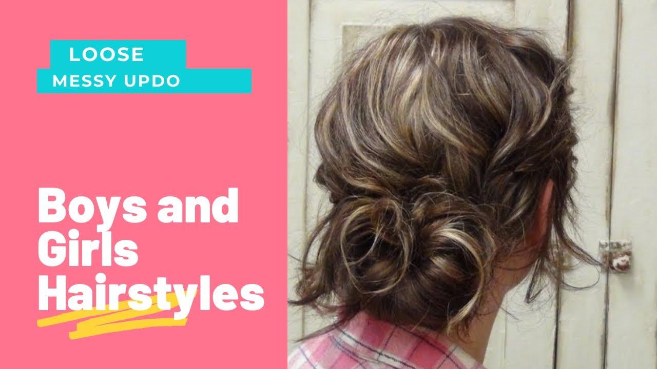 style messy bun hairstyle