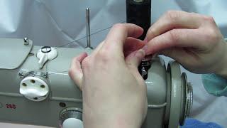 Pfaff 260 - Vorbereitung der Unterfadenspule und des Oberfadens