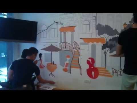 dạy vẽ tranh tường past 1