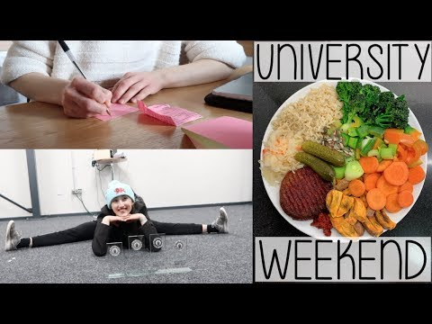 UNIVERSITY WEEKEND VLOG | MEAL PREP, KEEPING ON TOP OF WORK & DANCE TEAM TRIP TO MANCHESTER