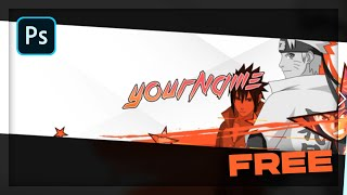 Naruto YouTube Banner Template || Photoshop (2021)