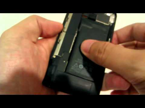 การเปิดฝาหลังของ Meizu MX เพื่อใส่ SIM Card