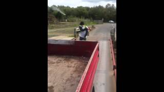Michael Jackson dancing on a weighbridge after dumping a house clearance in a Pikey tipper